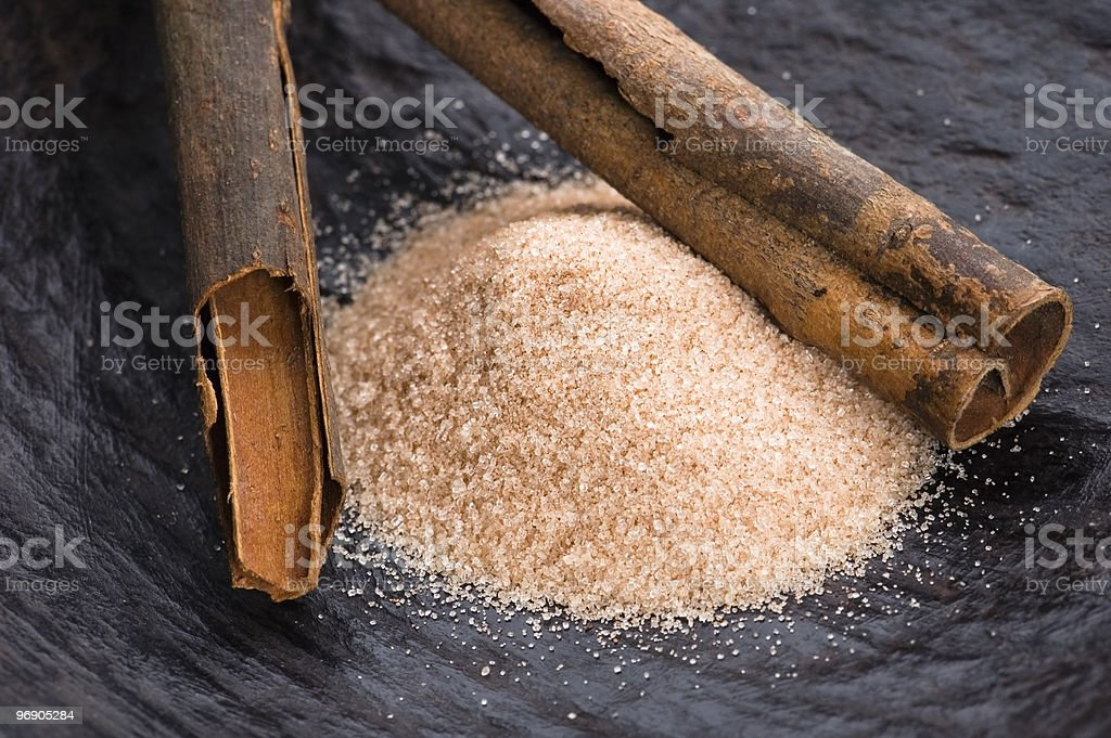 aromatic spices with brown sugar - cinnamon royalty-free stock photo
