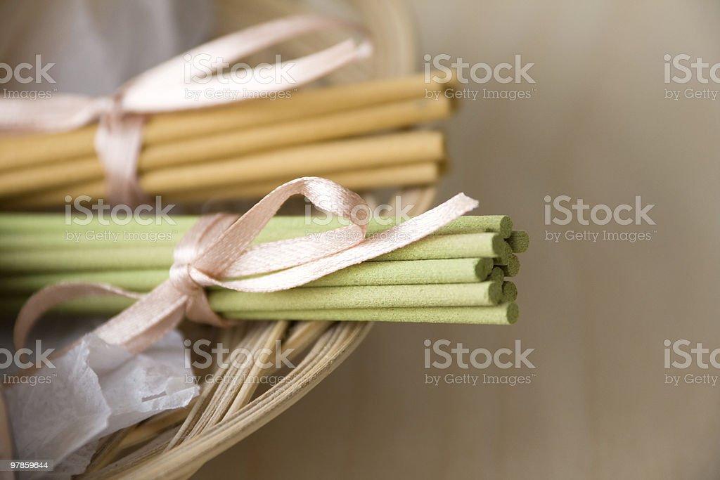 Aromatic Sticks in Basket royalty-free stock photo