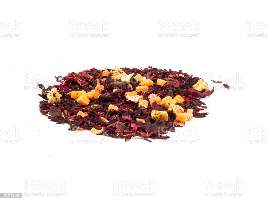 Aromatic Tea Hibiscus Flower Candied Fruit Mix Stock Photo More