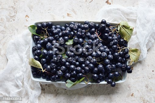 istock Aronia, commonly known as the chokeberry, with leaves. 1153433313