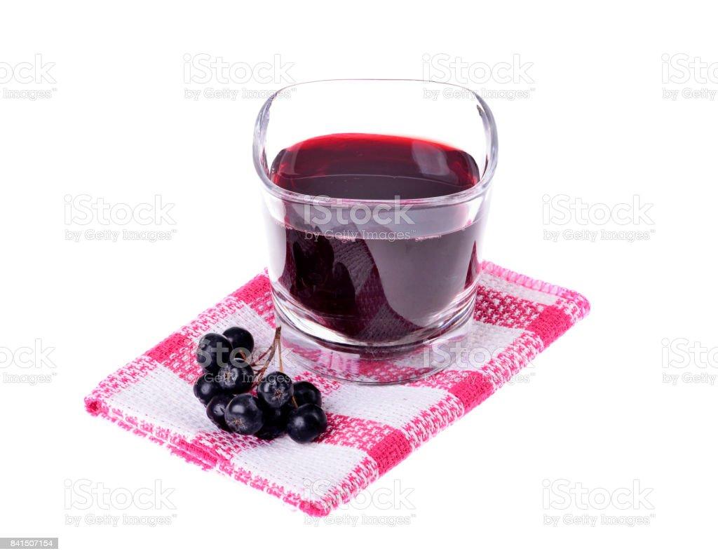 Aronia juice (Aronia melanocarpa) In a glass stock photo