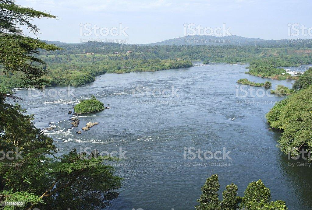 around Bujagali Falls in Uganda royalty-free stock photo