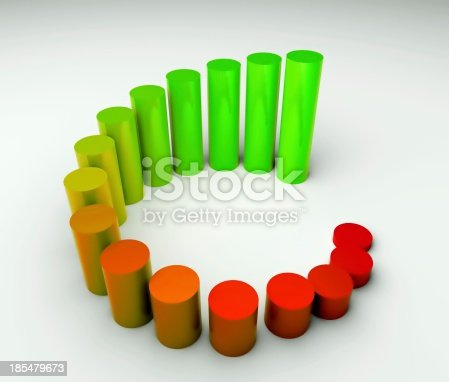 istock Around business diagram 3d, earnings 185479673
