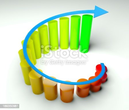 istock Around business diagram 3d, earnings 186350981