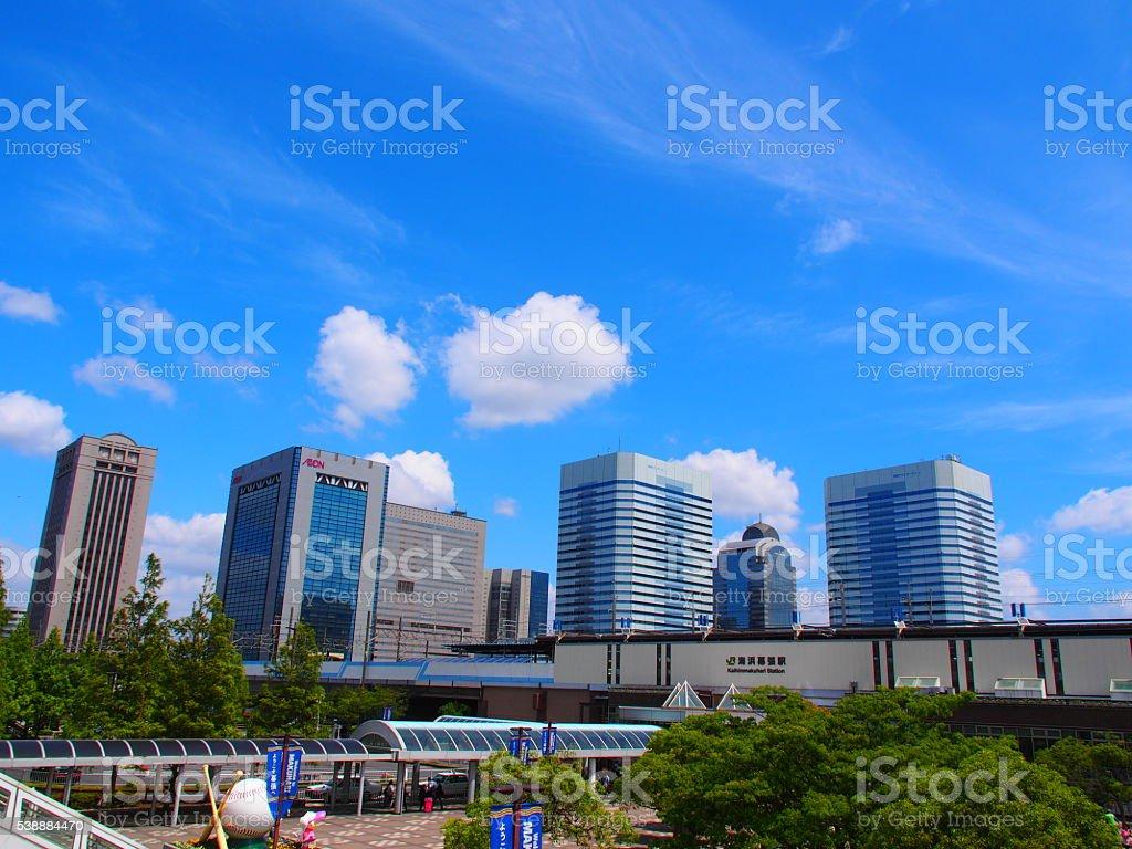 Around Kaihin Makuhari Station stock photo