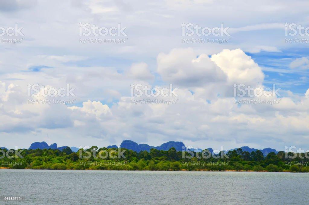Around Klong Jilad Pier stock photo