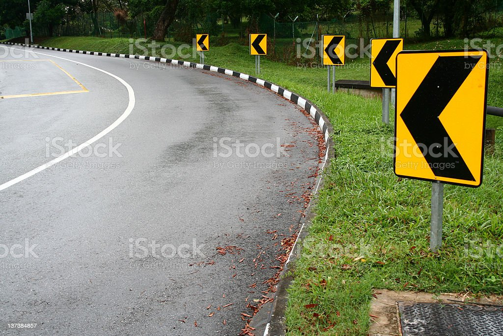 Around the bend royalty-free stock photo
