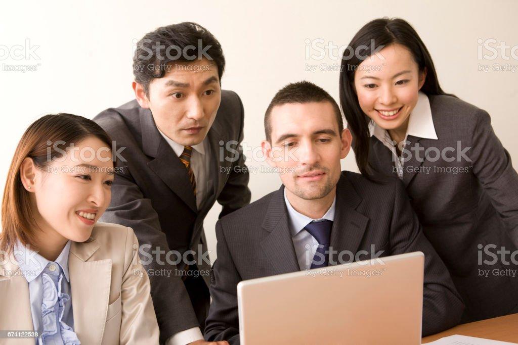 各地的個人電腦業務和 OL 免版稅 stock photo
