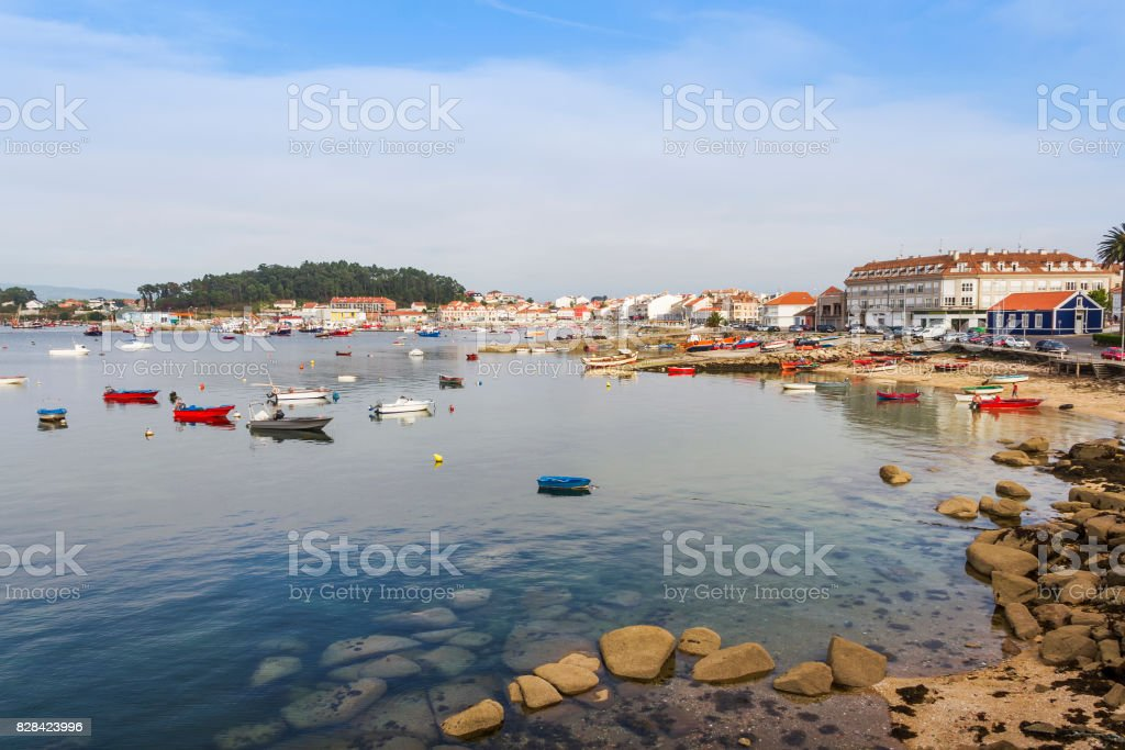 Arousa Island seafront royalty-free stock photo