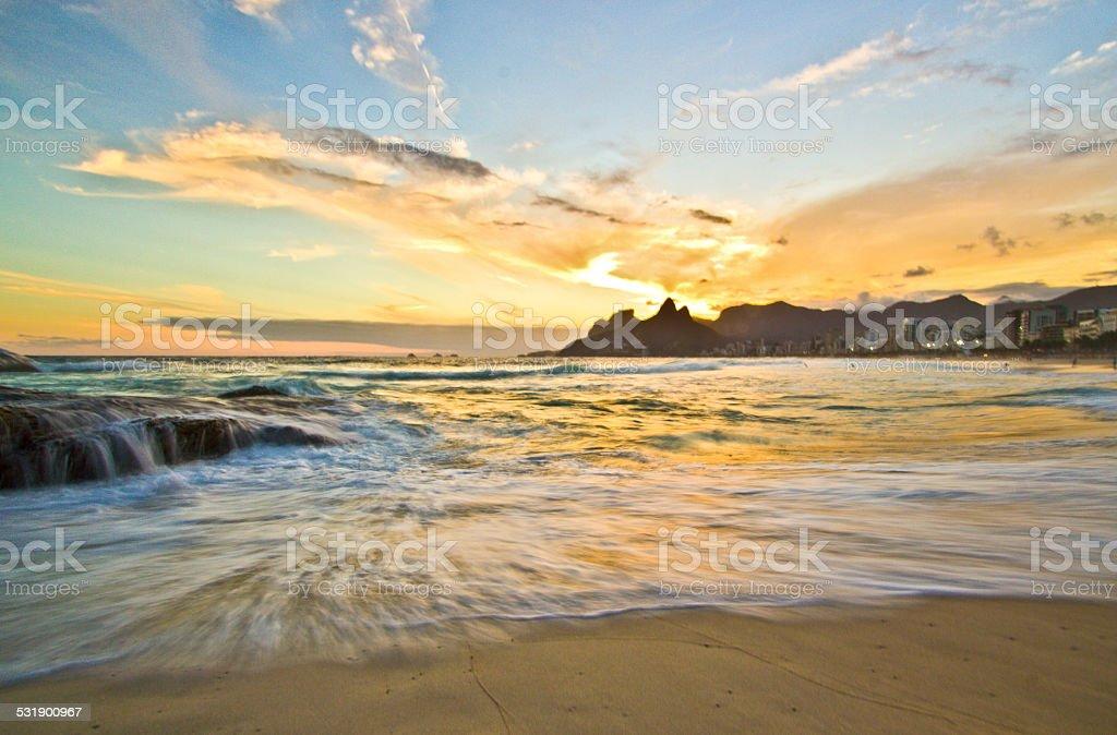 Arpoador Beach stock photo