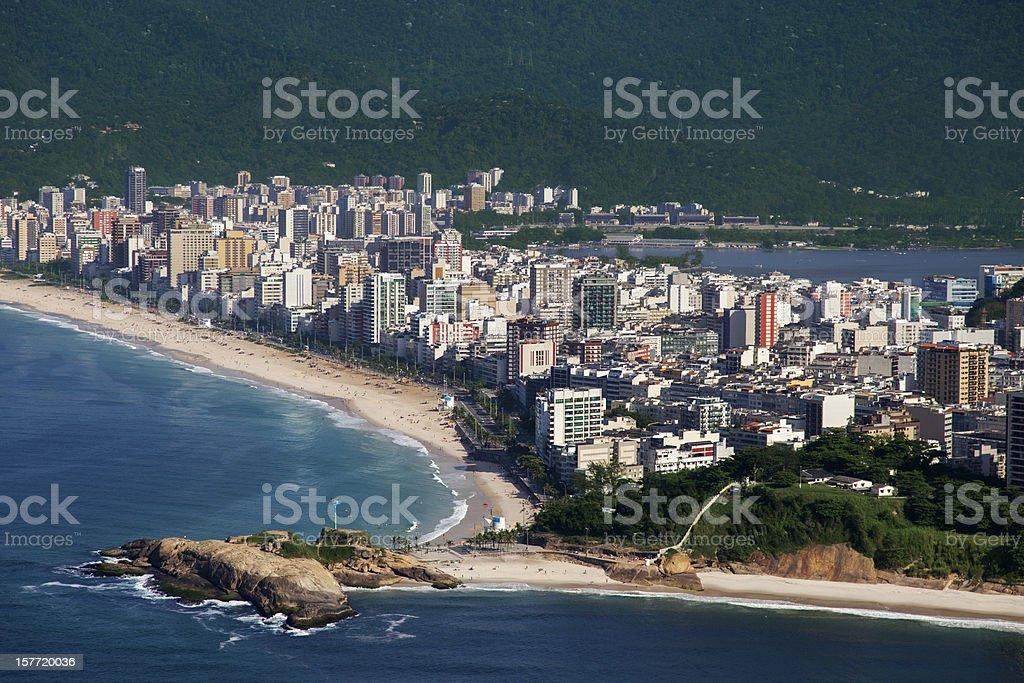 Arpoador Stone in Rio de Janeiro stock photo