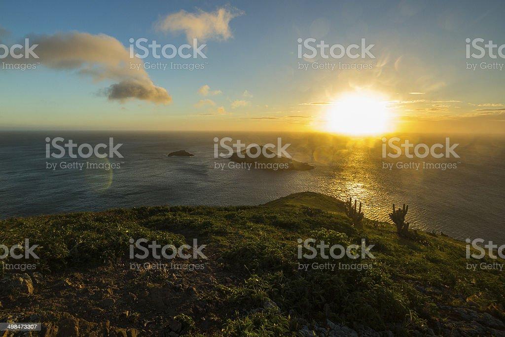Arraial do Cabo e Rio de Janeiro, ao pôr-do-sol - foto de acervo
