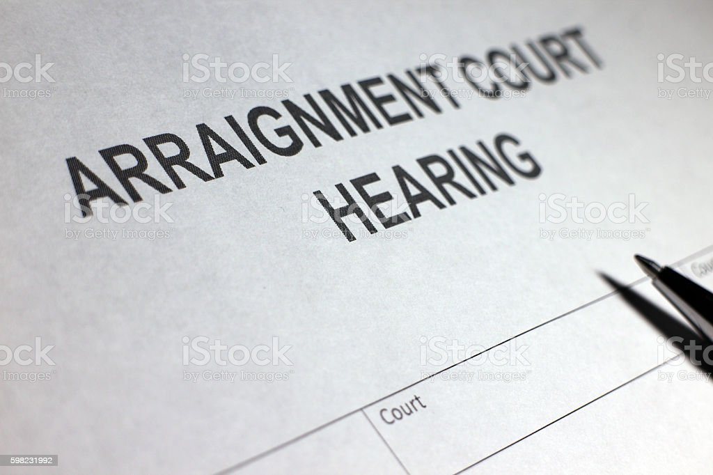Arraignment Court Hearing foto royalty-free