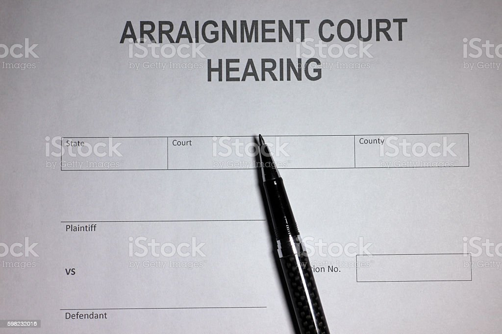 Arraignment foto royalty-free
