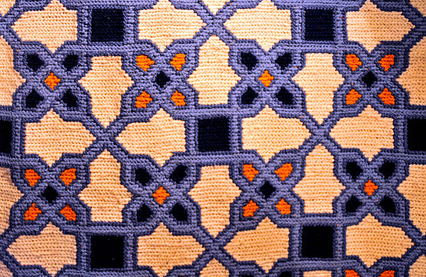 Arraiolos carpet, Portugal stock photo
