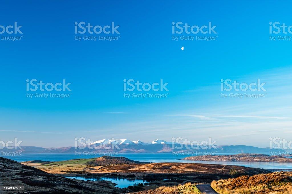 Arran Mountains In Scotland stock photo
