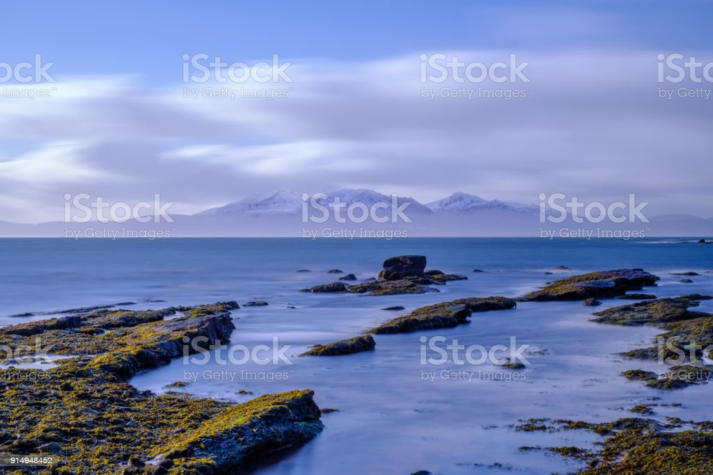 Arran Mountains in the Distance stock photo