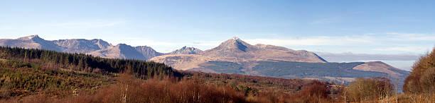 Arran Mountains stock photo