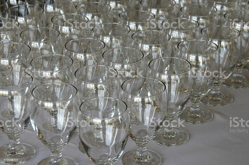 Arranged Glasses royalty-free stock photo