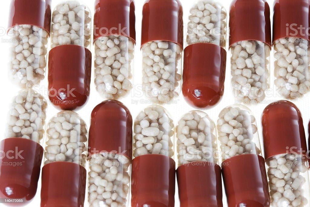 Arranged pills 2 royalty-free stock photo