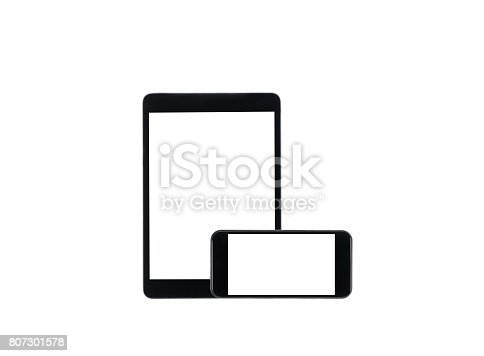 istock arranged set of digital tablet and smartphone with blank screens isolated on white 807301578