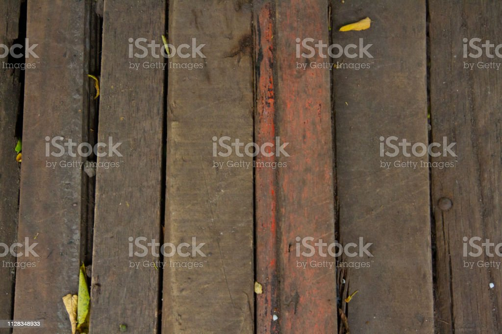 This a arranged wood and become small bridge