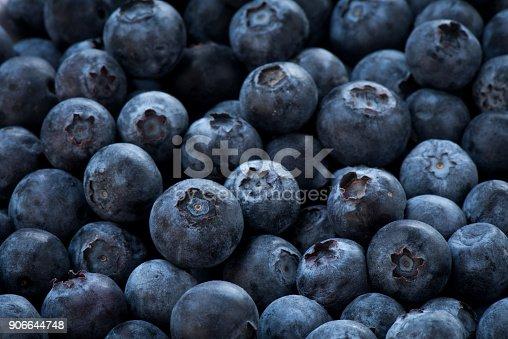 istock Arrangement blueberries for fruit background 906644748