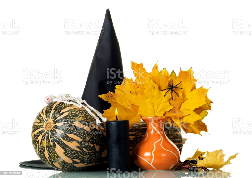 Arrangement for a holiday Halloween isolated on white background