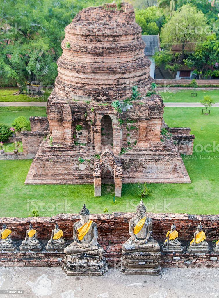 Arrangement of buddha statues royalty-free stock photo