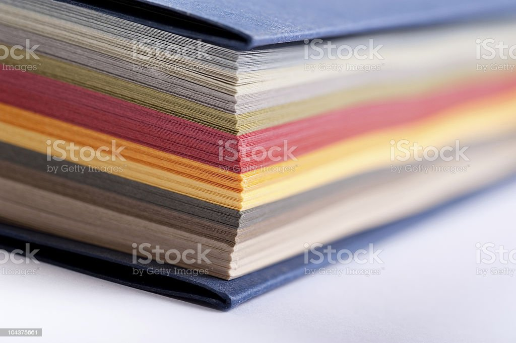 arrangement of color swatch paper royalty-free stock photo