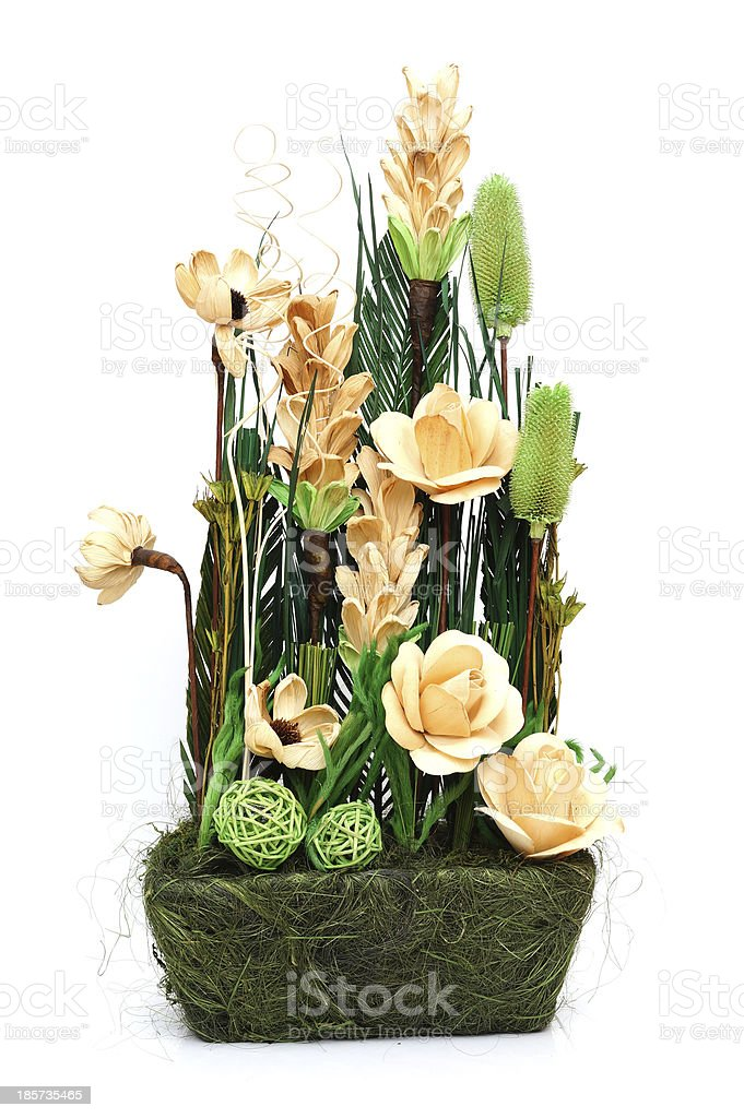 Arrangement of dried flowers royalty-free stock photo