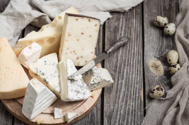anordnung der gourmet-käse - schnittkäse stock-fotos und bilder
