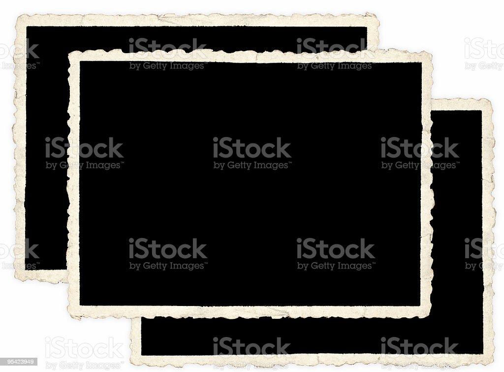 Zusammenstellung von alten Fotos auf weißem Hintergrund Lizenzfreies stock-foto