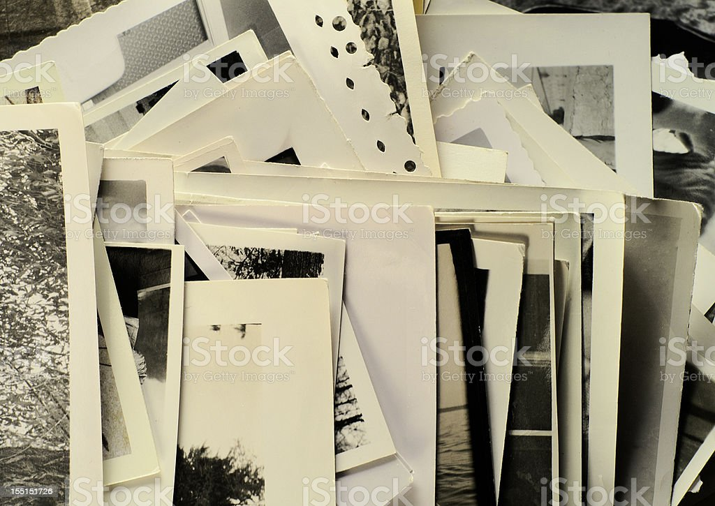 Arrangement of Old Photos royalty-free stock photo