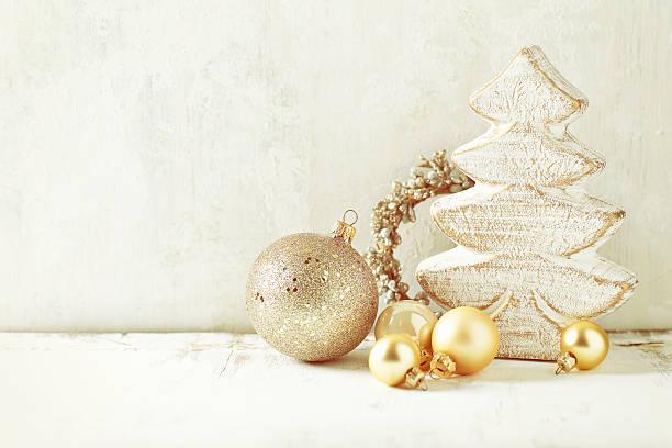 Arrangement of vintage Christmas Decorations – Foto