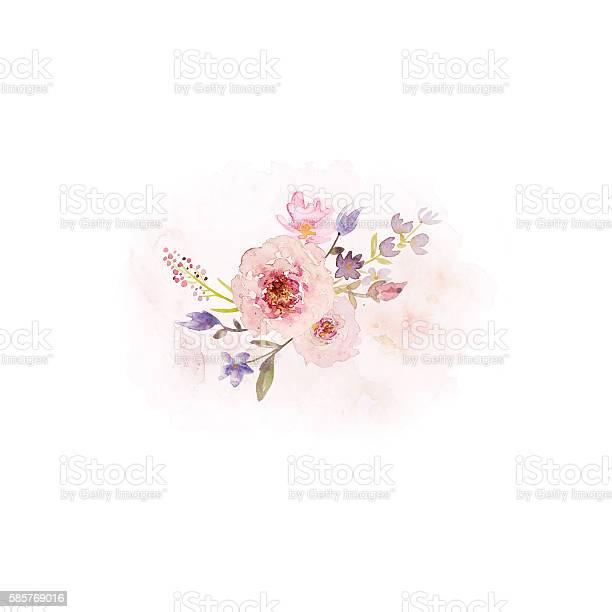 Arrangement of vintage watercolor flowers picture id585769016?b=1&k=6&m=585769016&s=612x612&h=udprw3whkn0o7 z0pplmkkinzsxumnf80ndbaklhwqm=