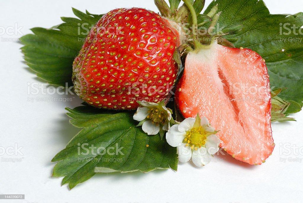 Arrangement with fresh strawberries stock photo