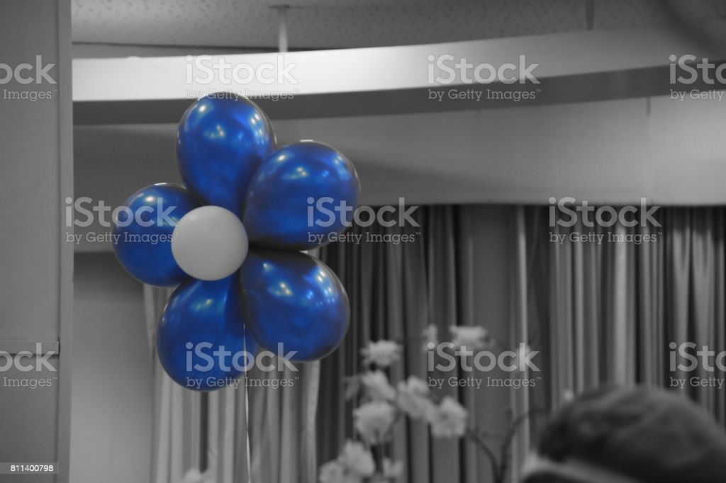 Arranging balloons at a party