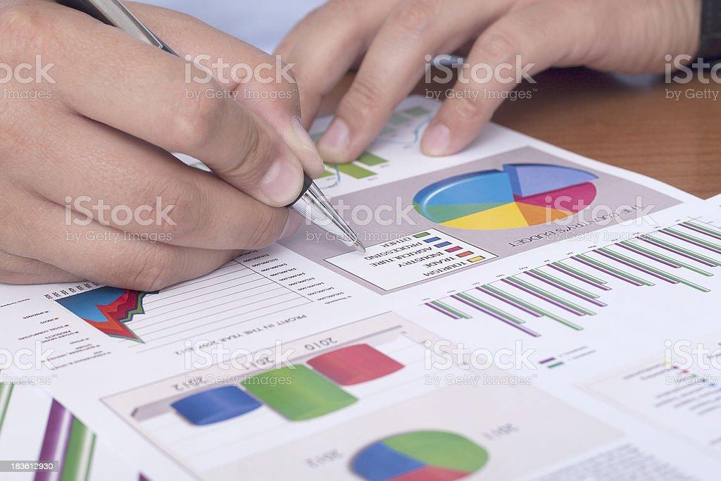 arranging paperwork royalty-free stock photo