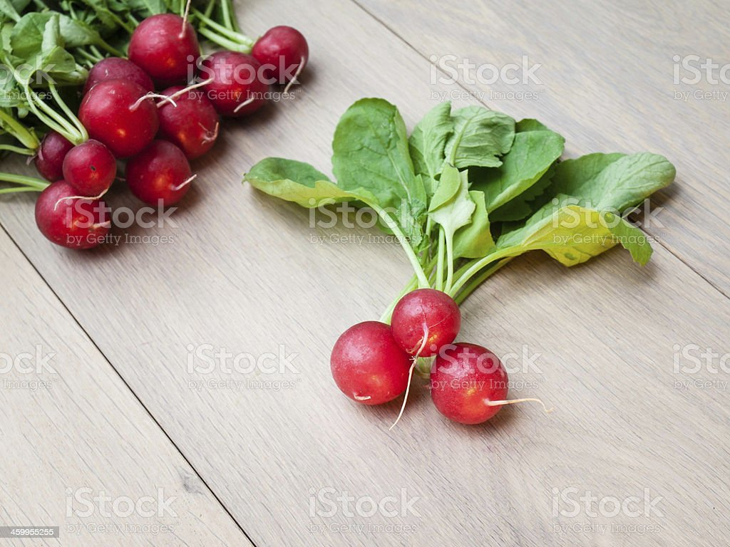 Arrangment of Freshly Harvested Radish stock photo