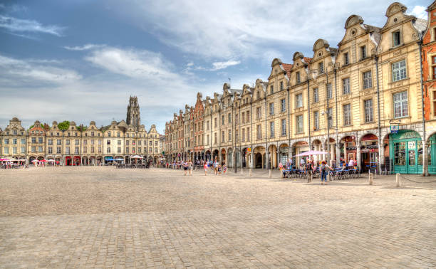 Arras marketplace in France stock photo
