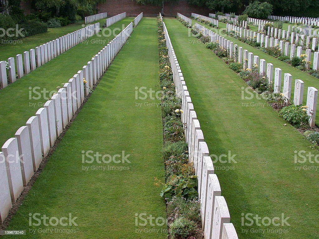 Arras, military cemetery royalty-free stock photo