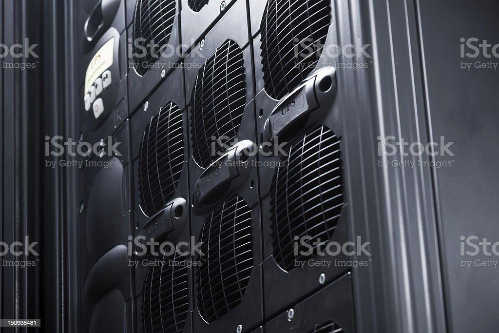 UPS Array in a data center stock photo