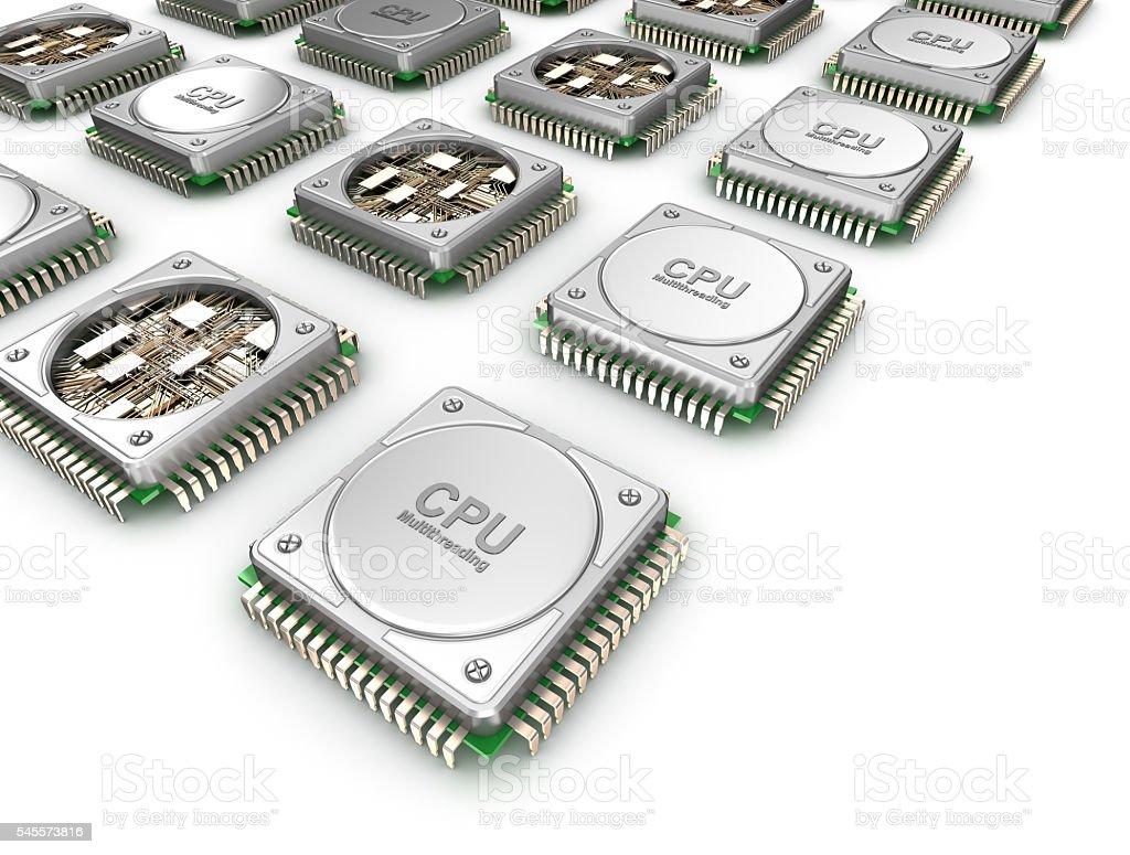 Array of CPU's . stock photo