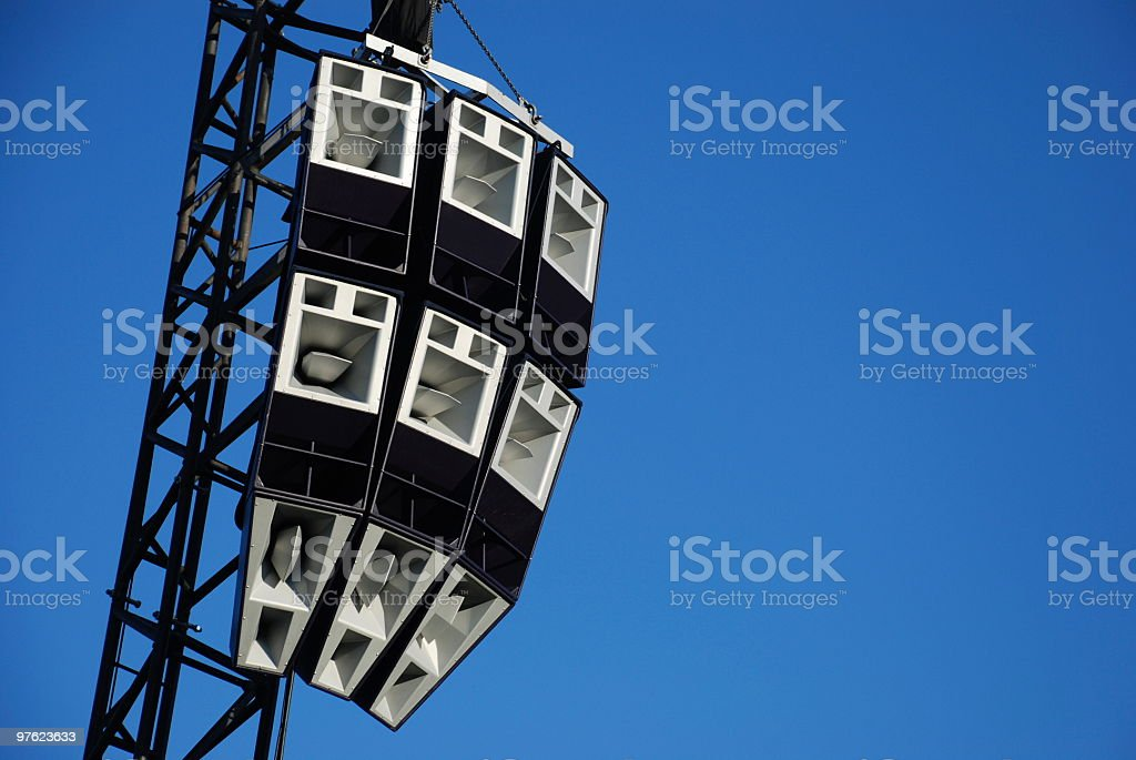 Array of loudspeakers royalty-free stock photo