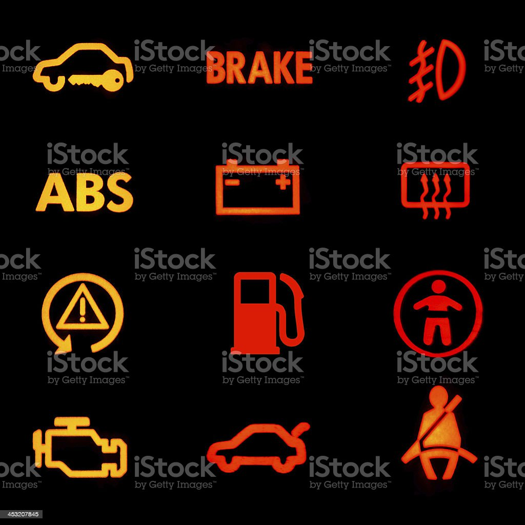 Array of significant common car dashboard symbols stock photo array of significant common car dashboard symbols royalty free stock photo biocorpaavc Gallery