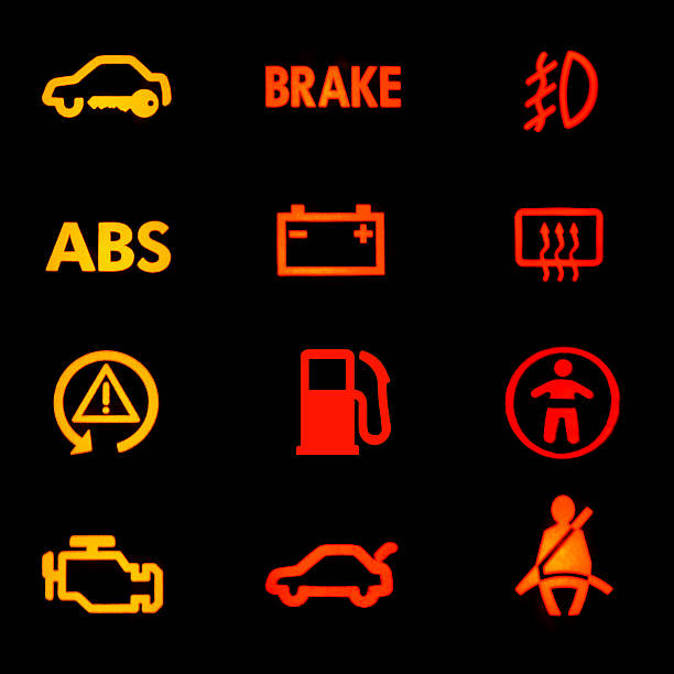 Car Warning Dashboard Lights Pictures Images And Stock Photos - Car sign on dashboard