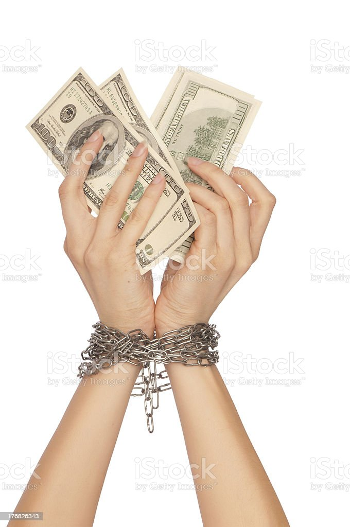Arrested counterfeiter stock photo