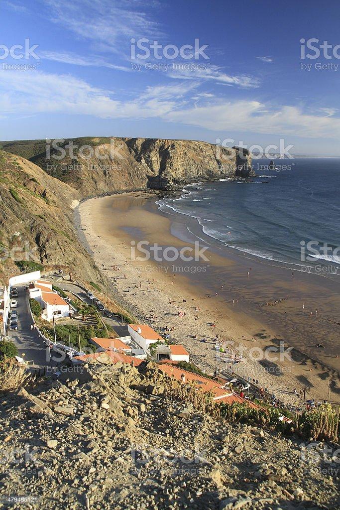 Arrifana beach stock photo