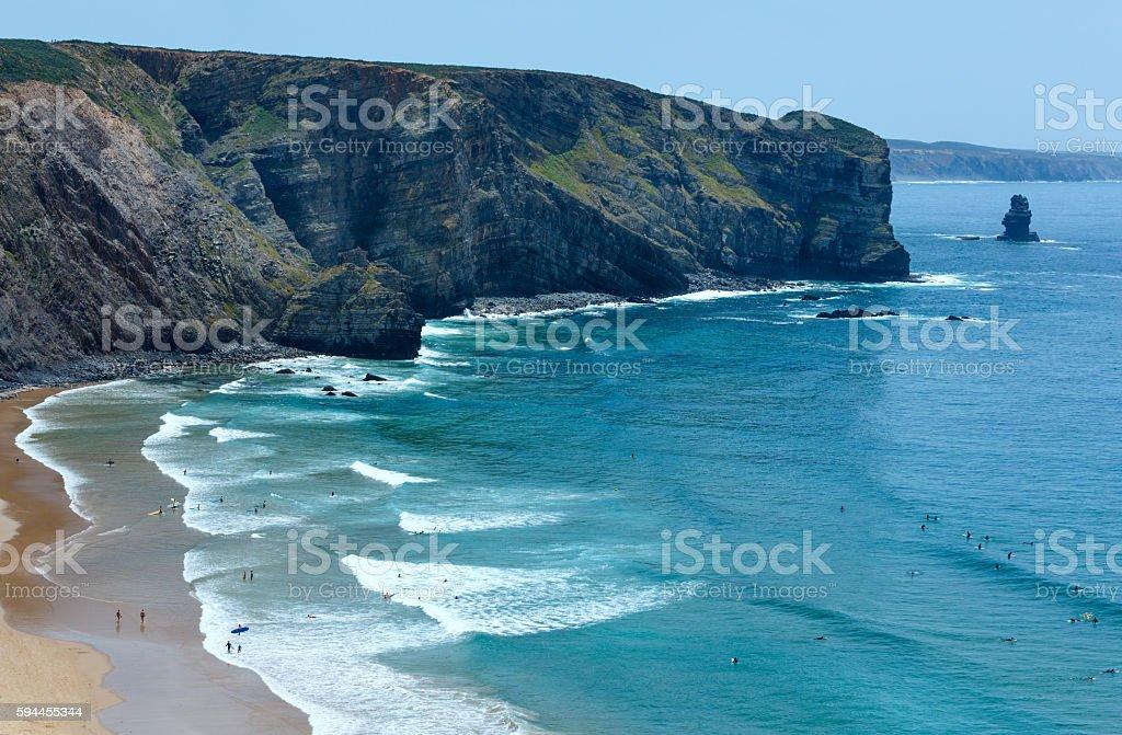 Arrifana Beach (Aljezur, in Algarve, Portugal). stock photo